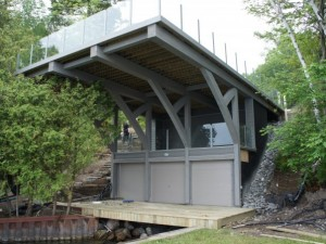 3 Storey Boathouse & Deck Kempenfelt Bay